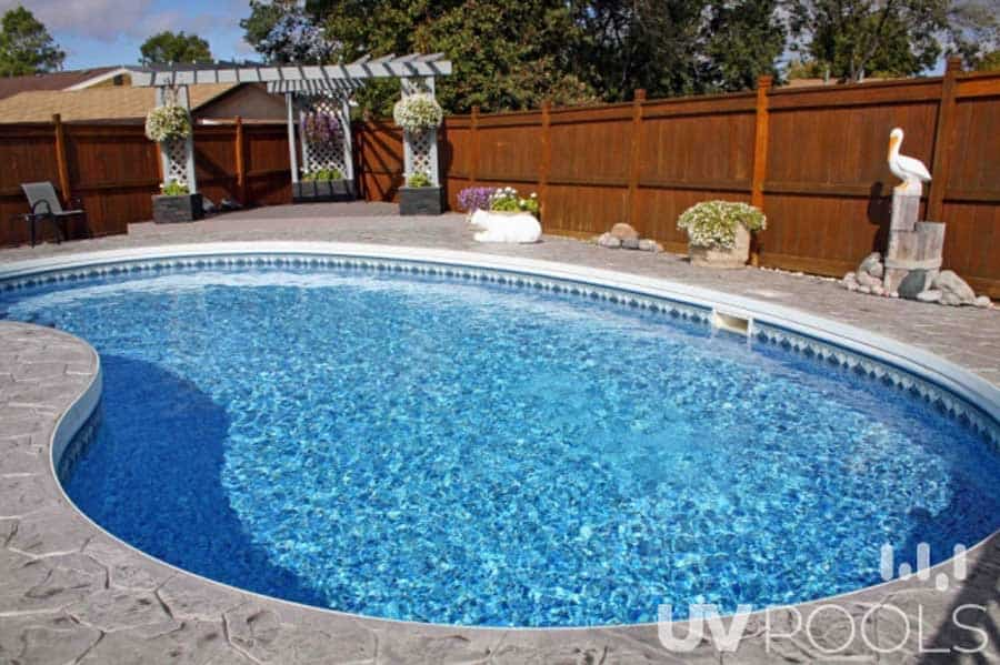 Light Coloured Pool Liner Sparkling Water